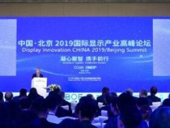 北京2019国际显示产业高峰论坛在京举行